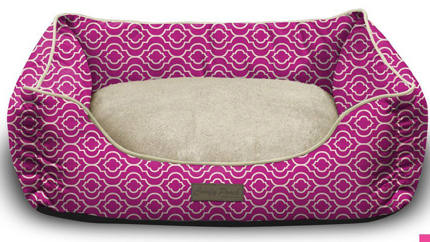 pink puppy bed