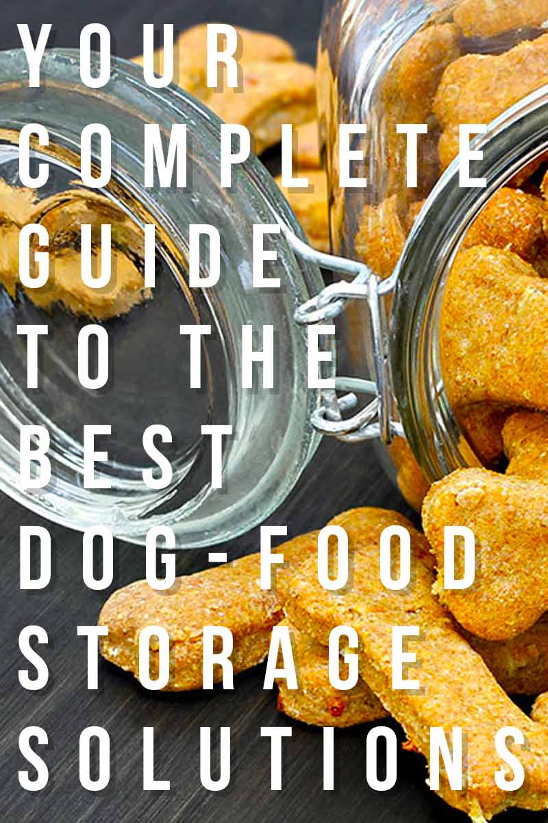 Your complete guide to the best  dog-food storage solutions - Great products for dogs.