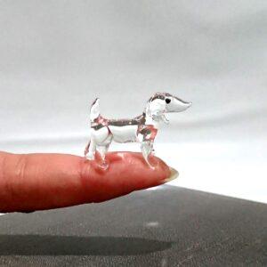 Crystal Dachshund figurine