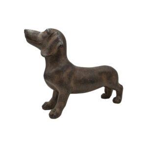 Dachshund resin sculpture