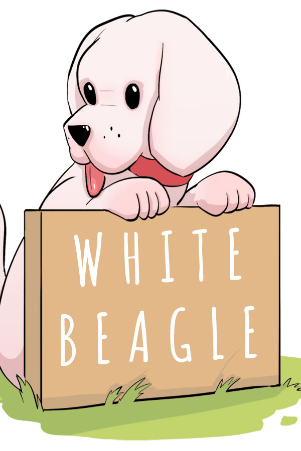 white beagle